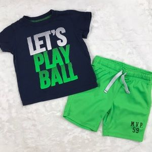Let's Play Ball Sport Shirt and Short Set